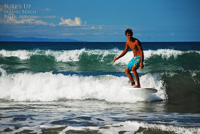 Surfing in Baler by Oliver Bautista