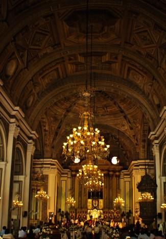 The interior of the San Agustín Church in Intramuros