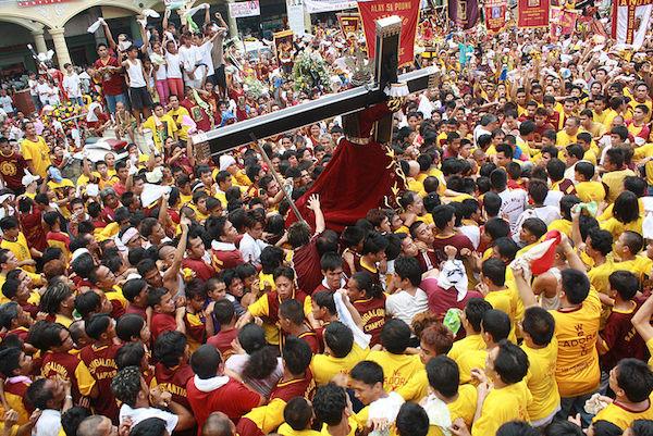 The procession of Black Nazarene in Manila