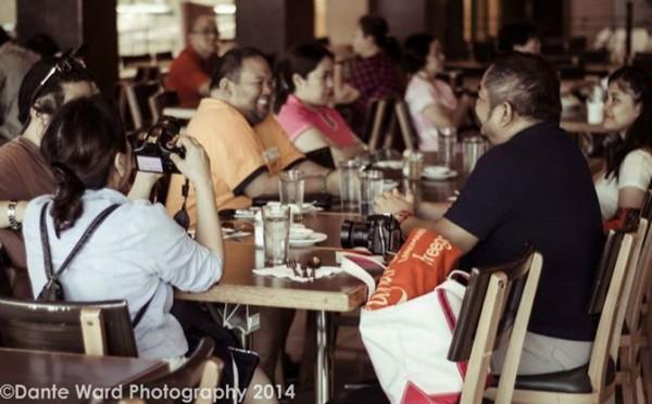 Enjoying Breakfast at Aristocrat Manila