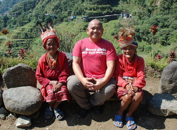 Melo Villareal with Ifugao Ladies