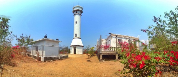 Panoramic View of Cape Bolinao Lighthouse