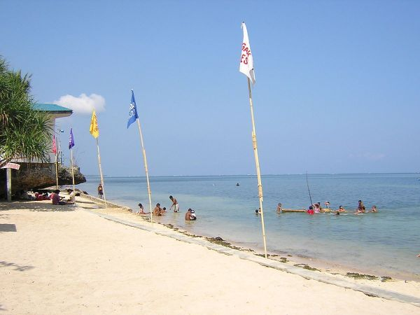 Sunny white beach at Rock Garden Resort, Bolinao