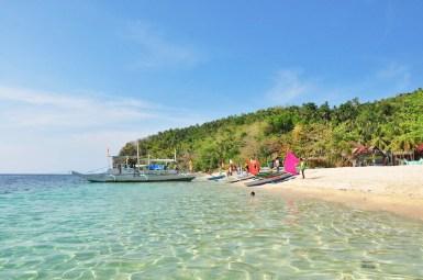 Crystal Clear waters at Cobrador Island