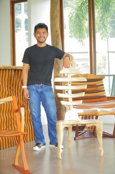 Niccolo Jose - Filipino wooden furniture designer and a visual artist