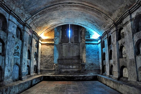 Tombs 15 feet beneath the church