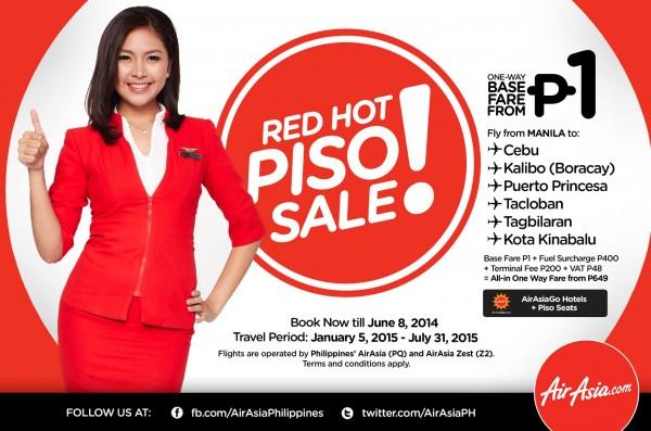 AirAsia Red Hot Piso Sale