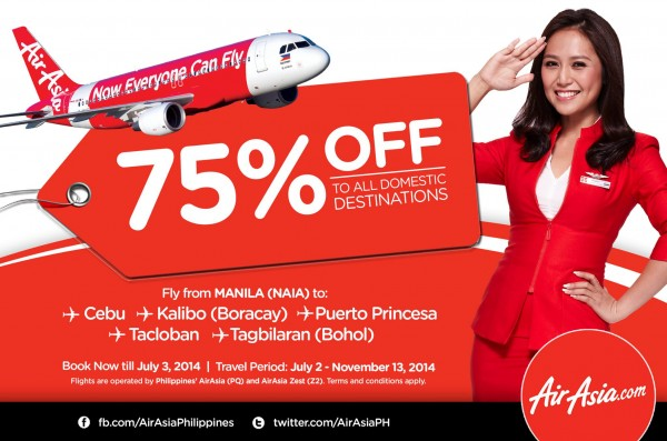 AirAsia Seat Sale to all Philippine Destinations