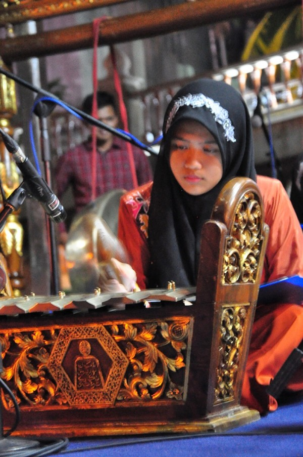 Cultural Performance using Musical Instrument made from Bamboo