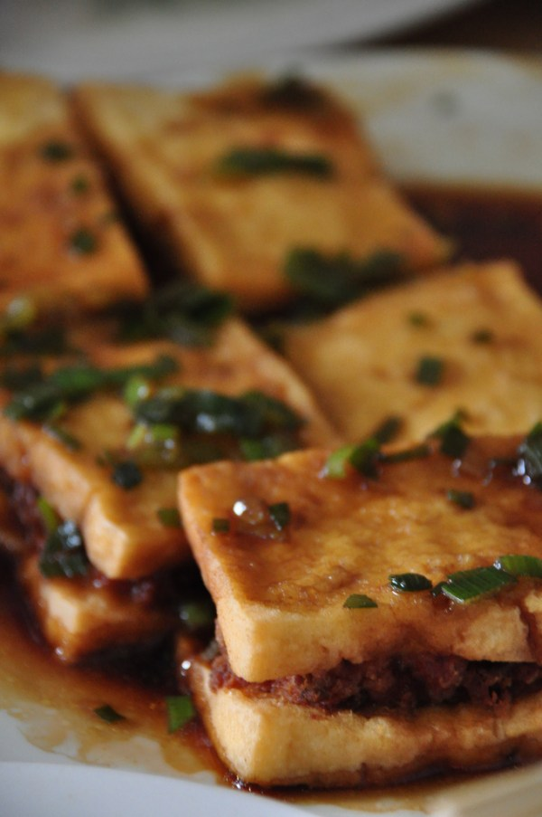 Fried Tofu with Pork Meat at Dong Bei Dumplings