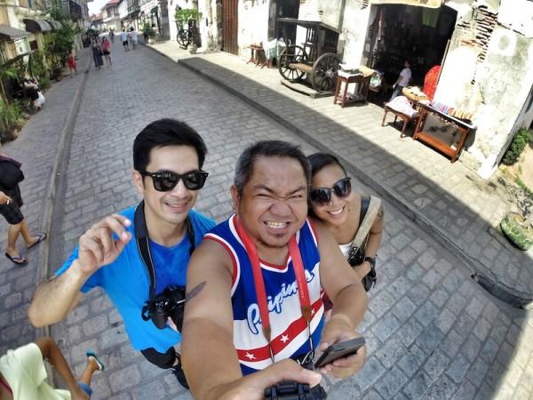Group Selfie in Crisologo Street