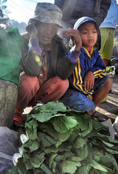 Vegetable Vendor in Sagada