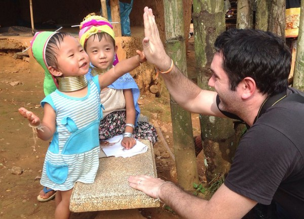 Allan playing with Thai Kids