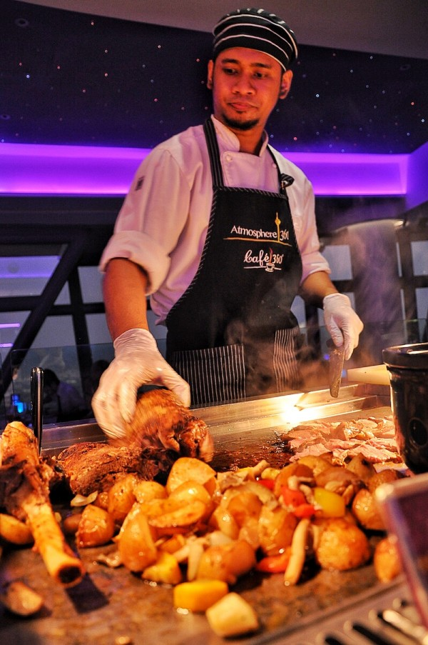 Chef at Work in Atmosphere 360 Restaurant