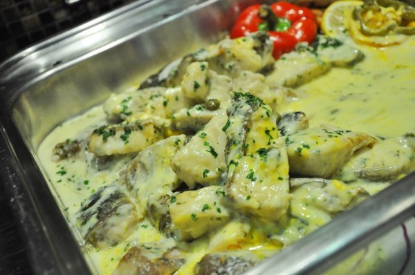 Fish in Green Curry Sauce