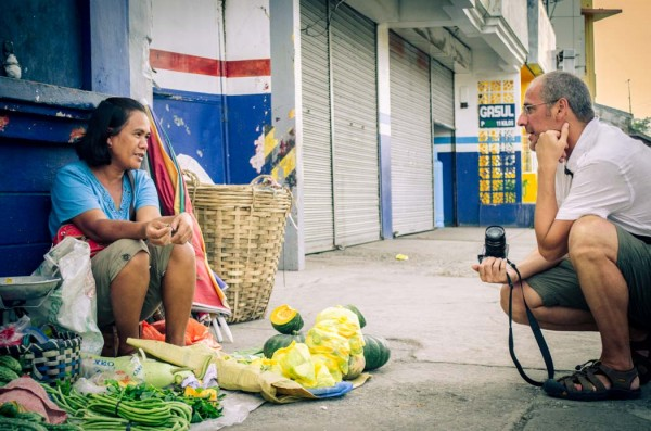 Gianni talking to Mrs. Victoria in Roxas City Philippines