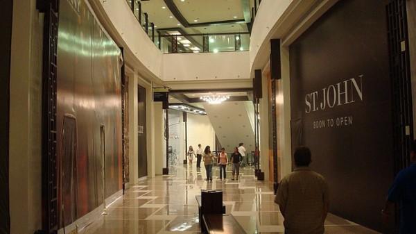 Inside Greenbelt Mall in Makati