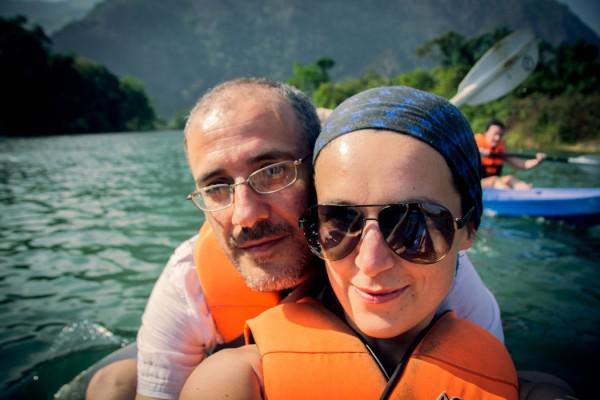 Kayaking in Laos