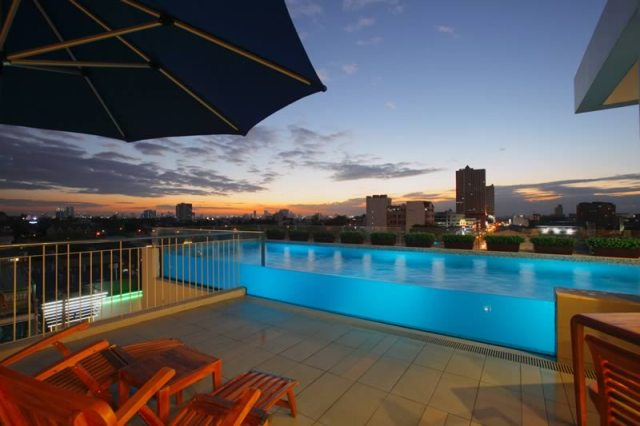 Luxent Hotel Pool at Night