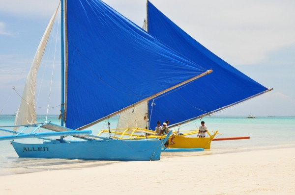 Paraw for rent in Boracay