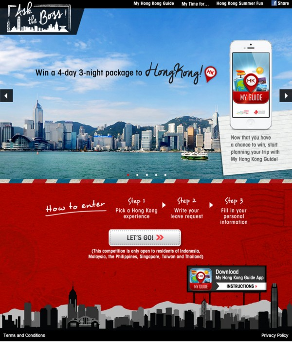 Win a 4day 3night package to Hong Kong