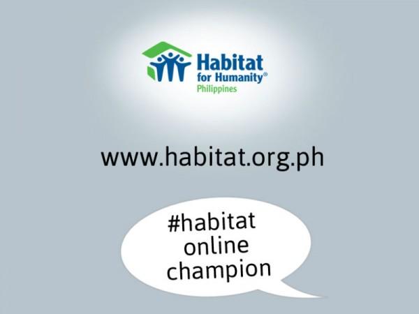 Habitat for Humanity Online Champion