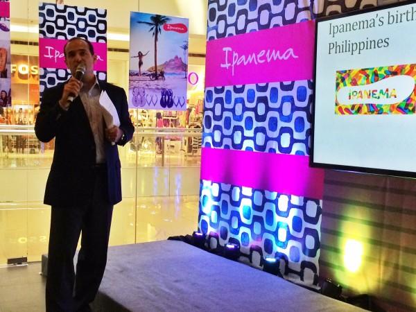 Ipanema opens their 4th concept store in sm north edsa annex out ipanema philippines managing director patxi elizalde stopboris Images