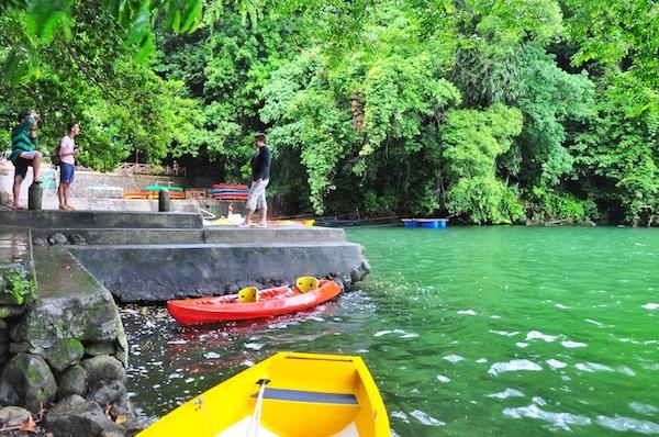Kayaking in Lake Bulusan