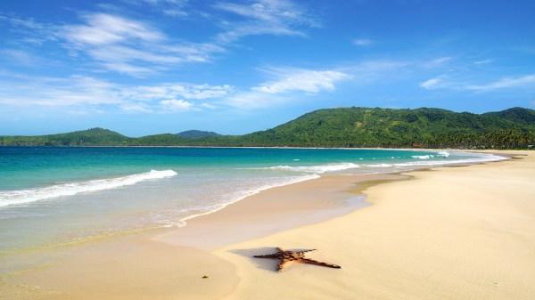 Nacpan Beach. El Nido Palawan Philippines