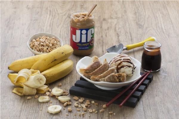 Osaka Ohsho Peanut Butter & Banana Dessert Gyoza