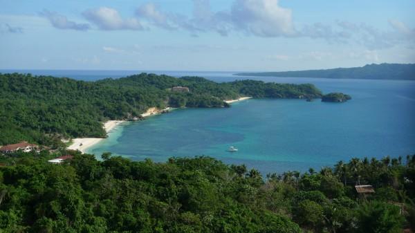 Overlooking Boracay Island from Mt Luho