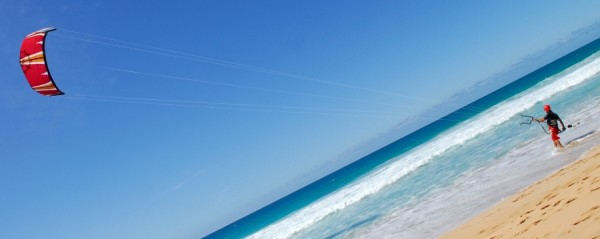 Kitesurfing photo by Leon Wilson via Flickr