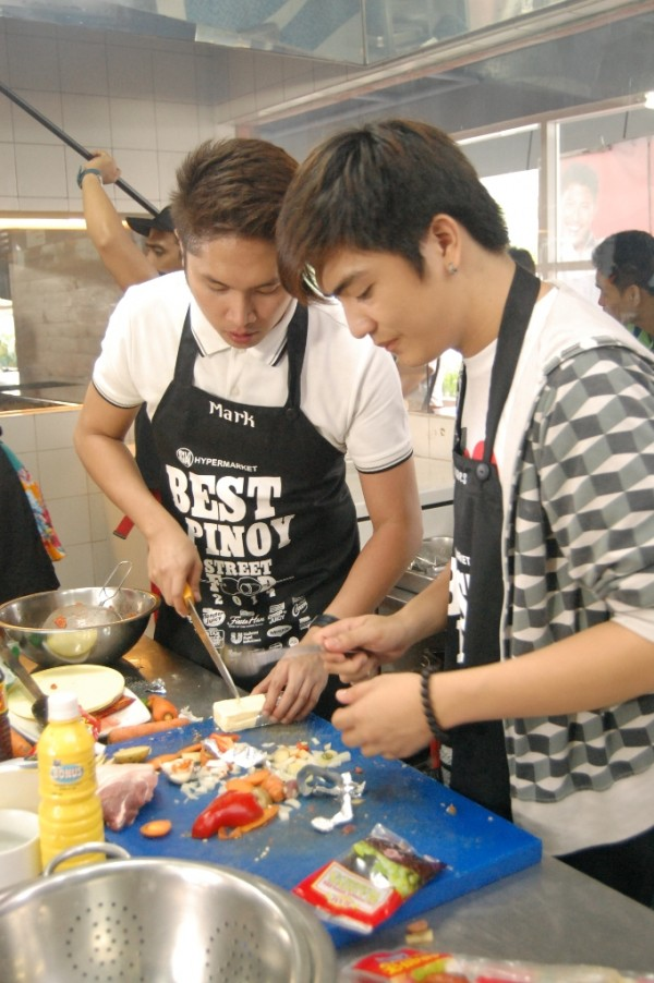 Mark and James, second generation cooks, testing their luck in the food business.