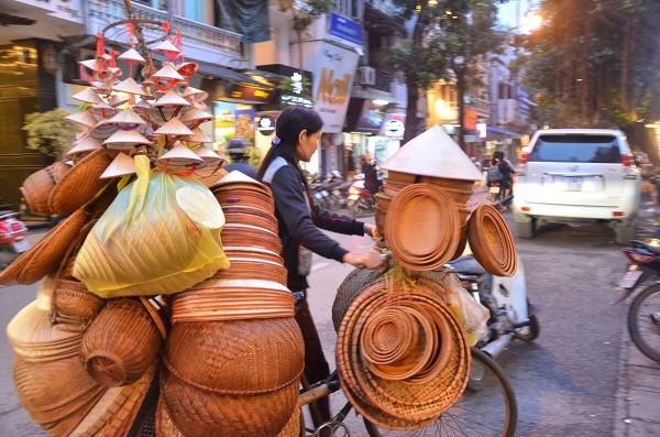 Native Handicraft Vendor at Hanois Old District