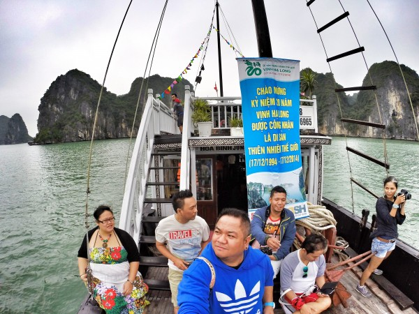 Our Poster Perfect Gopro Selfie while Cruising Ha Long Bay
