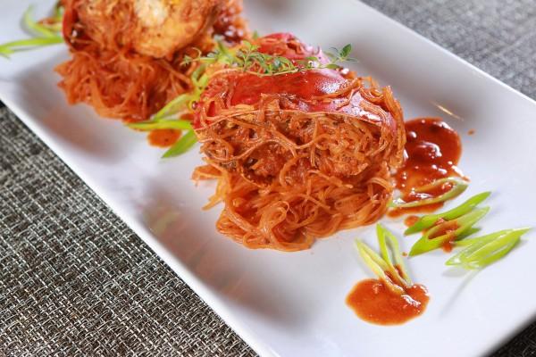 Spicy Crab Sotanghon with Taba ng Talangka Sauce