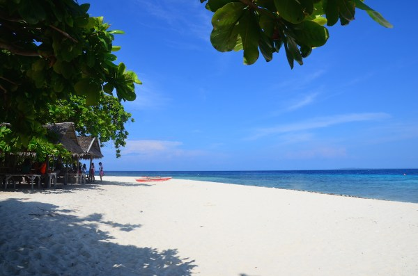 Home.fit Under-the-Tree-in-Pamilacan-Island 15 Of The Best Beaches in Bohol (Photos + How to Get There)