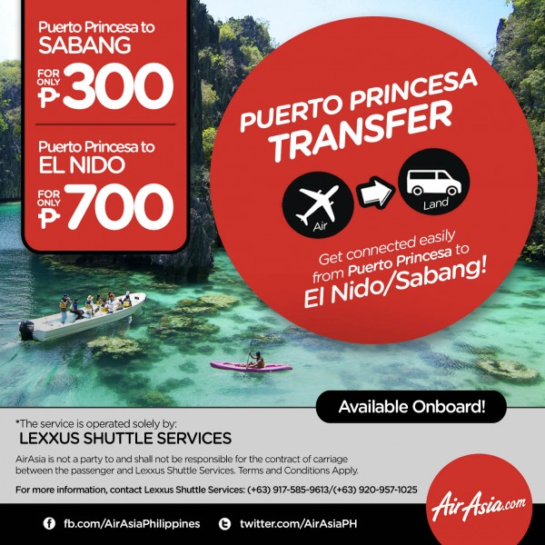 AirAsia now offers Lexxus Shuttle Services