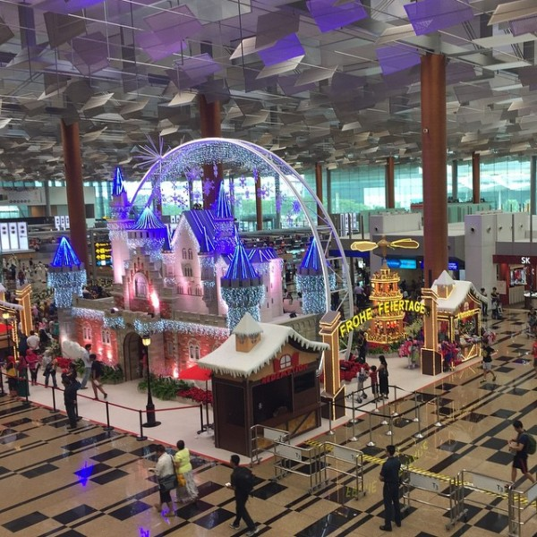 Changi Airport Terminal 3 in Singapore