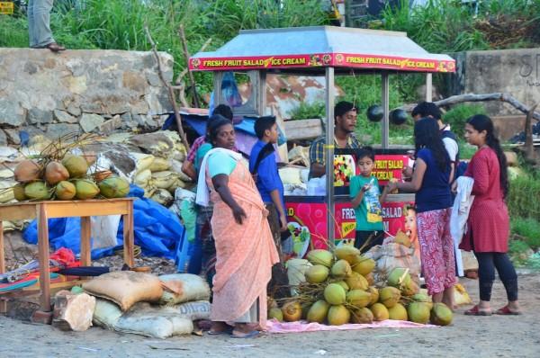Fruit Vendor in Kovalam Beach