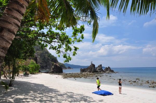 Relaxing Under the Sun in Santelmo Beach Cove in Nasugbu Batangas