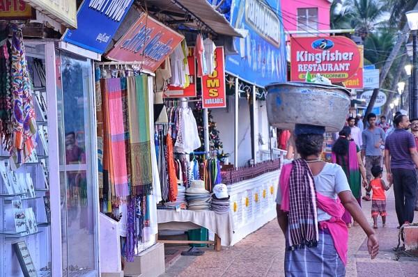 Souvenir Shops near the fishing village in Kovalam Beach