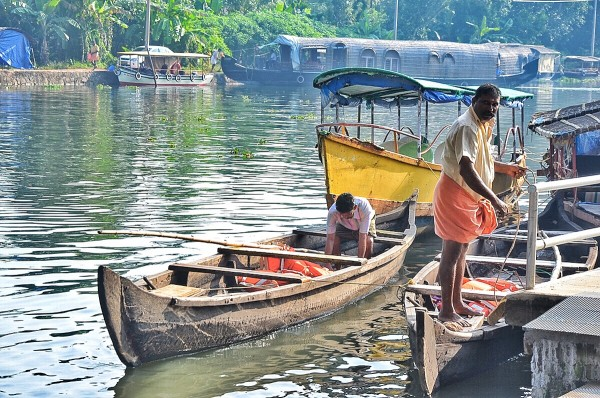 Boatmen preparing for our backwater trail