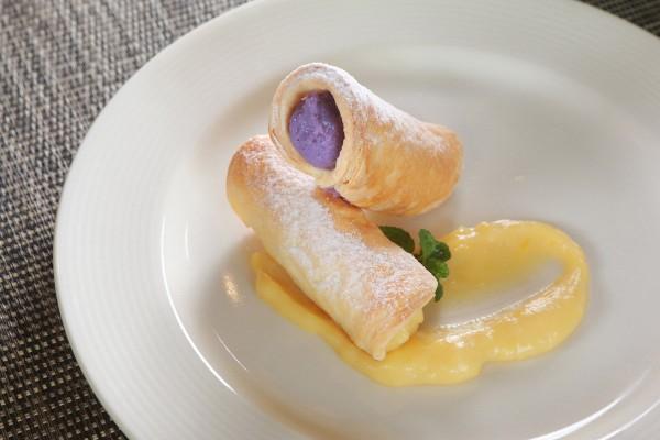 Cannoli Ube Ricotta and Langka cream