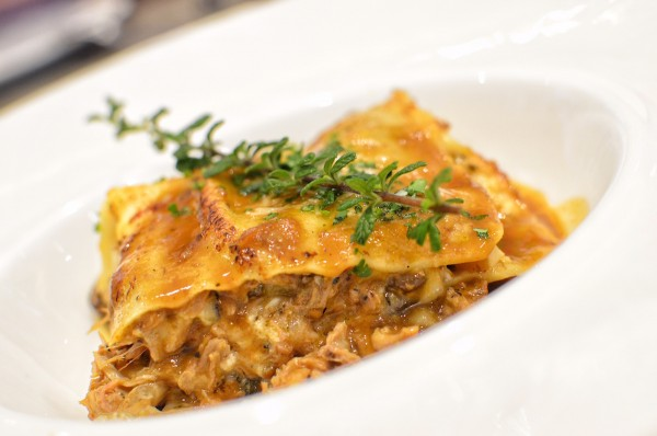 Duck and Mushroom Lasagna