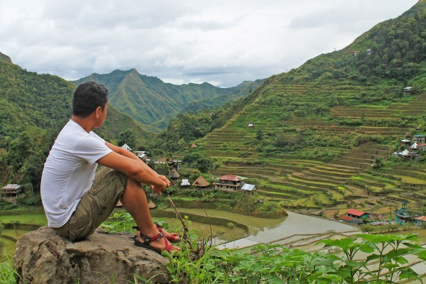 Ian in one of the rice terraces in Ifugao