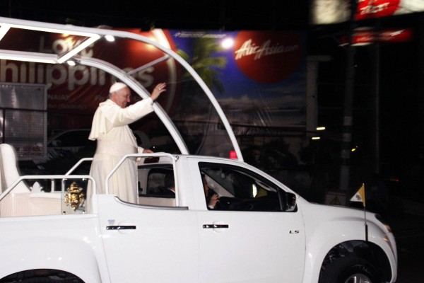 Pope Francis during his Philippine visit