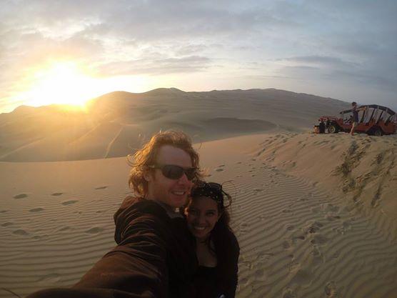 Sanddunes in Huacachina in Peru