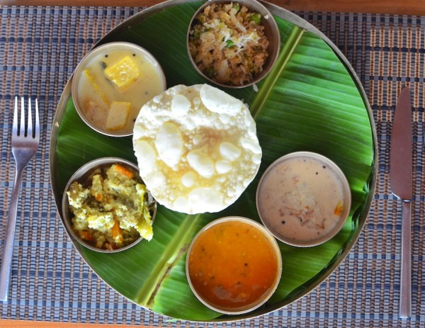 Traditional Kerala Lunch