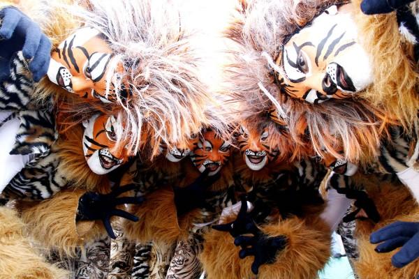 Caracol Festival Lion Painted Faces